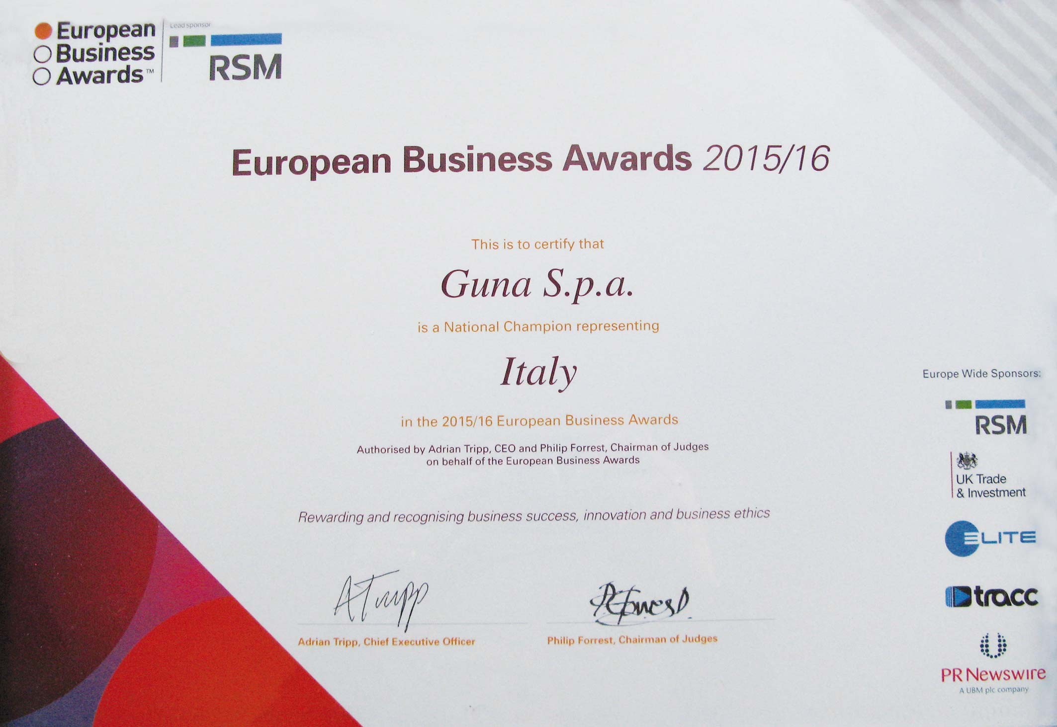 European Business Award